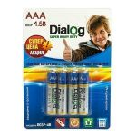 Батарейка AAA Dialog R03P Super Heavy Duty (упаковка 4 шт.)