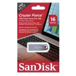 Карта памяти USB 16 Gb SanDisk Cruzer Force в блистере <серебро>